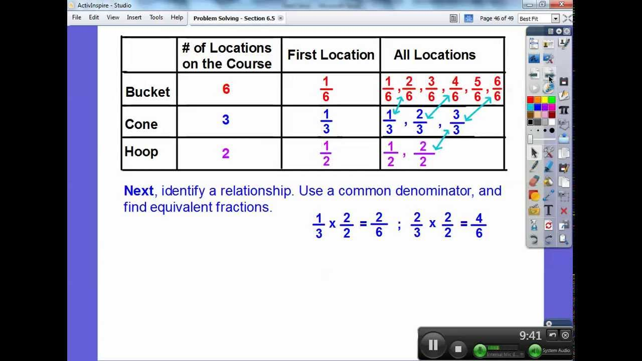 Problem Solving With Equivalent Fractions