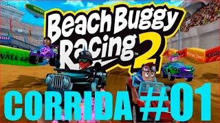 GAMEPLAY BEACH BUGGY RACING 2020, JOGO DE KART OFFROARD 3D DETALHADOS ANDROID #01
