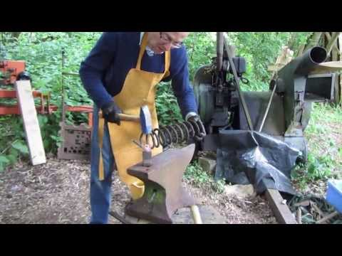 Making a Spoon Knife from an old car spring.