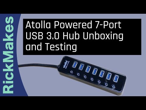 Atolla Powered 7-Port USB 3.0 Hub Unboxing and Testing