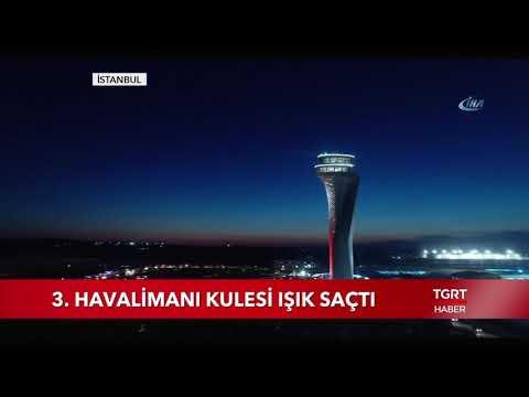 3. Havalimanı Kulesi Işık Saçtı