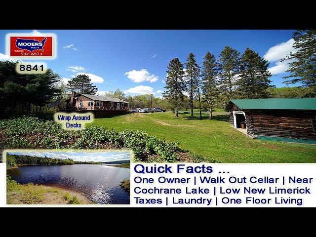 Homes For Sale In Maine | 1980 County RD New Limerick ME Video MOOERS REALTY 8841