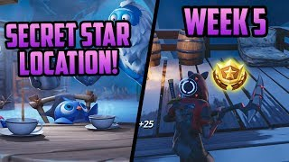 Season 7, Week 5 | *SECRET* Battle Star Location! (Free Tier) - Fortnite