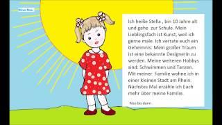 Учимся рассказывать на немецком языке.  #1( О себе любимой)