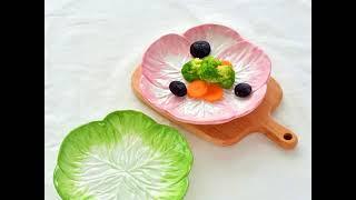 양배추 시리얼 감성 요거트볼 시리얼 그릇 예쁜 가정용