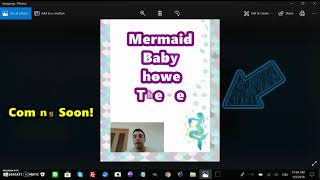 Mermaid Baby Shower Printable Theme Coming Out Soon