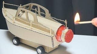 Cool Matches Chain Powered Cardboard Jet ERUPTION