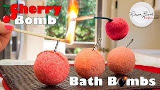 How to Make a Cherry Bomb Bath Bomb | DIY EXPLOSIVE RECIPE