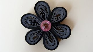 ✿ Quilling - Floare - Tutorial 5 - AidaCrafts