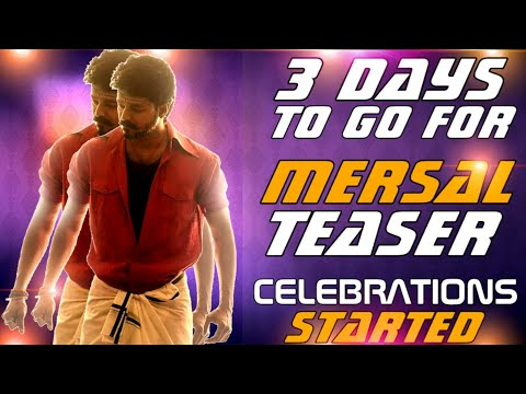 3 Days To Go For #Mersal Teaser - Celebrations In Ram Muthuram Cinemas | Exclusive Mersal T-Shirts😎