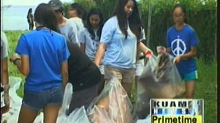 Sinajana students do their part to keep Guam clean