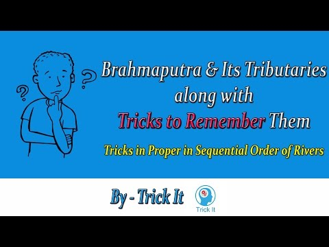 Brahmaputra River and its Tributaries with Trick to Remember