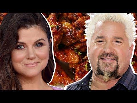 Tifi Thiessen Vs. Guy Fieri: Whose Wings Are Better?  Celebrity Snackdown  Delish