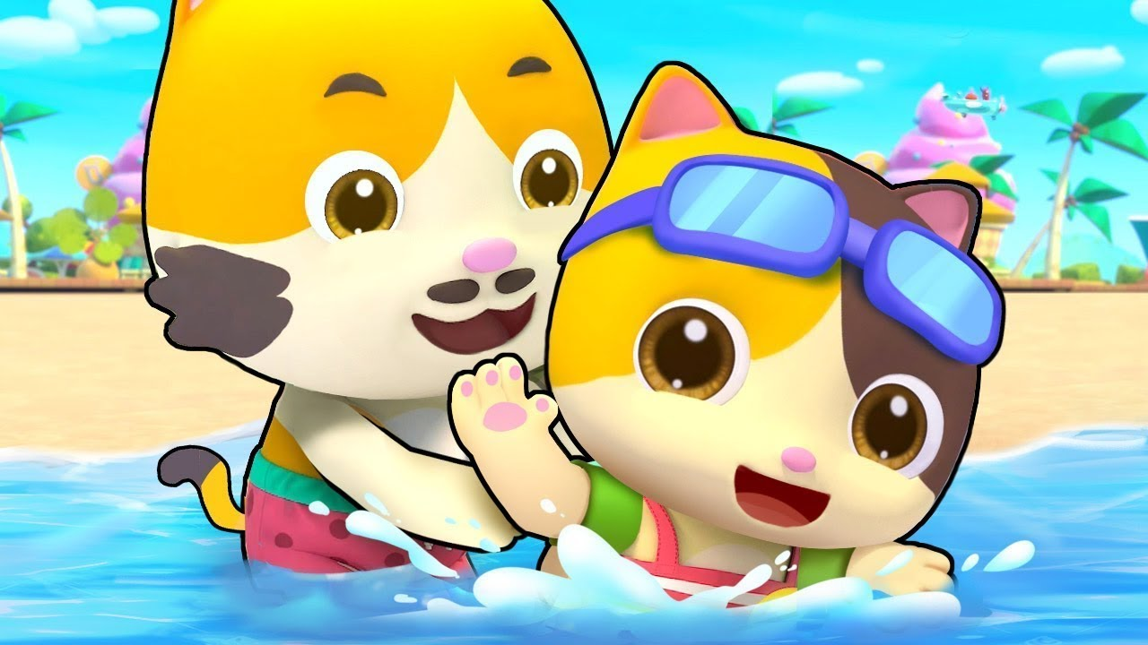 Beach Song of the cats & Kids Songs - Kid TV - YouTube