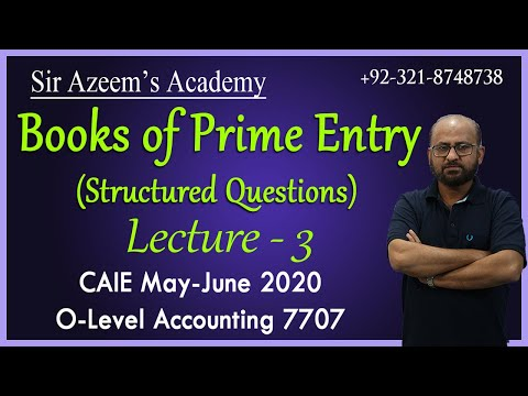 Books of Prime Entry - Structured Questions