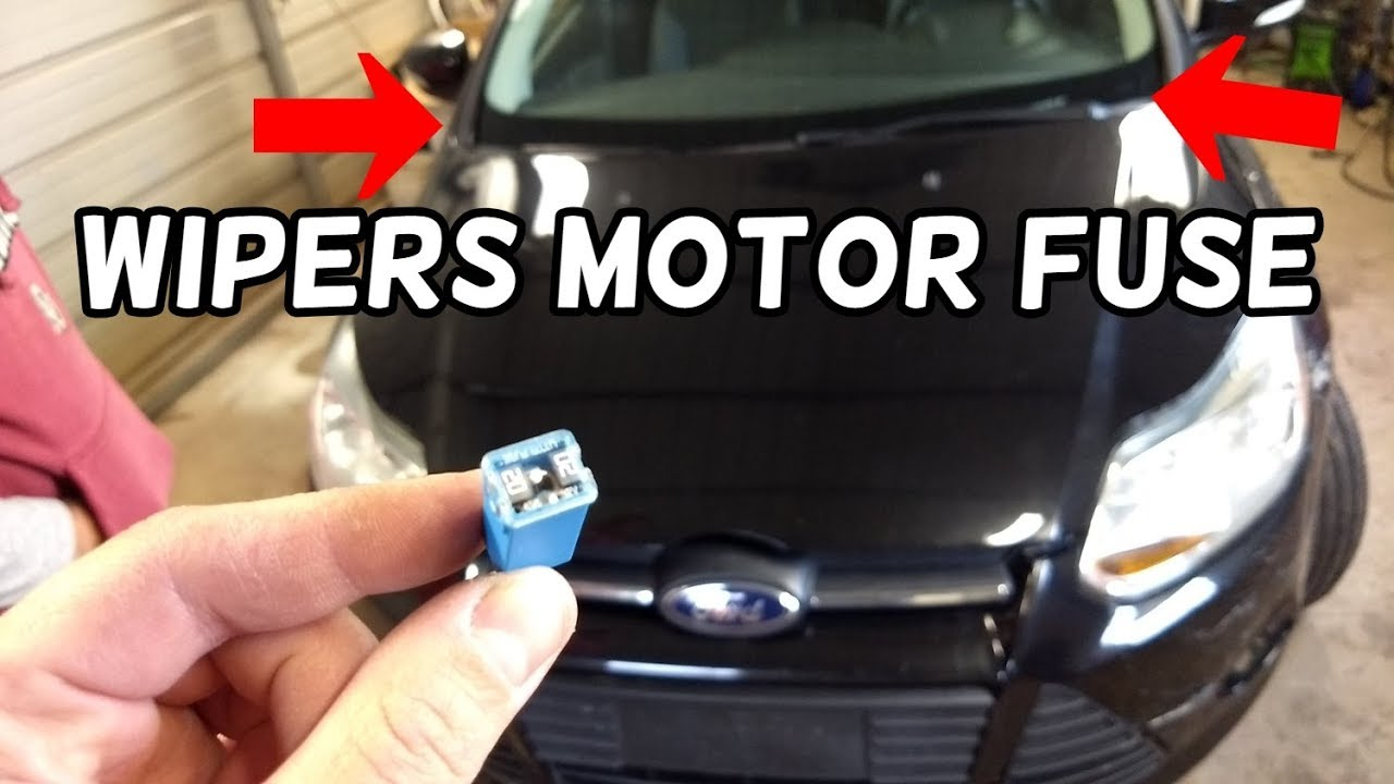 medium resolution of windshield wipers motor fuse location replacement ford focus mk3 2012 f250 windshield wiper fuse diagram
