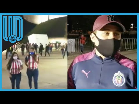 Afición de Chivas se va contenta tras la victoria en el Clásico Nacional