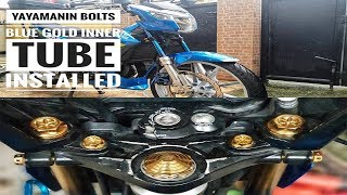 Yayamin Bolts And Blue-Gold Inner Tube Installed | Suzuki Raider R150 Fi