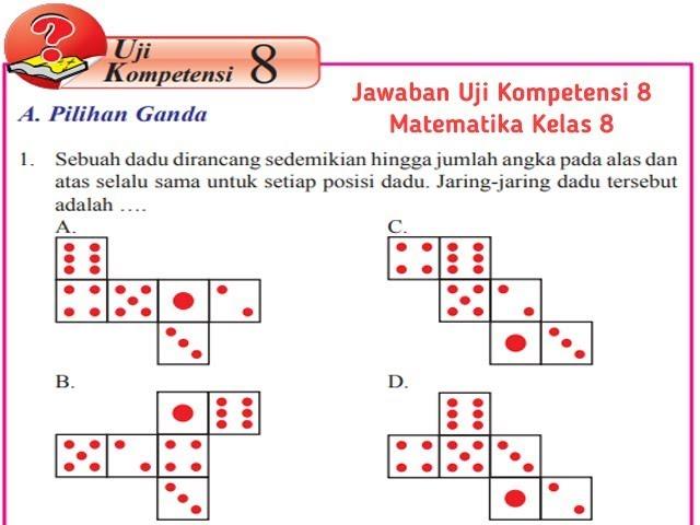 Jawaban Pg Uji Kompetensi 8 Halaman 216 Matematika Kelas 8 Bangun Ruang Sisi Datar Youtube