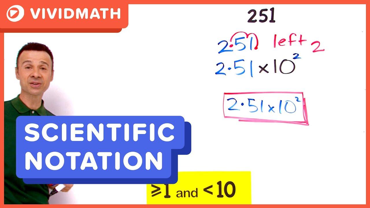Convert standard form to scientific notation youtube convert standard form to scientific notation falaconquin