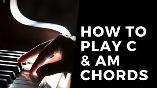 5 Minute Music Lessons | Piano C & Am Chords