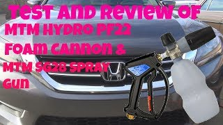 Test and review of the MTM Hydro PF22 and SG28 Spray Gun