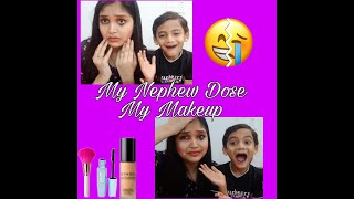 #Trending #makeup #Fun-video My Nephew Does My Makeup 💄💋👑