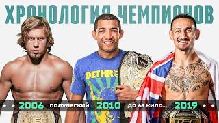 Хронология Чемпионов UFC в Полулегком Весе
