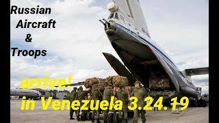 Russian Aircraft and Troops Arrive in Caracas, Venezuela 3/24/2019 thumbnail