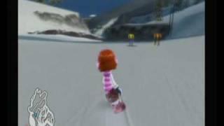 Family Ski & Snowboard Gameplay - Top to Bottom