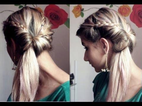 penteados fácil jogado de lado