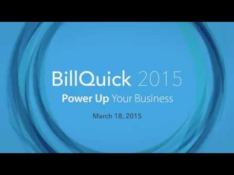 BillQuick 2015 Preview