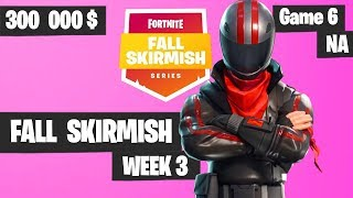 Fortnite Fall Skirmish Week 3 Game 6 NA Highlights FINAL GAME  (Group 2) -  King Pin