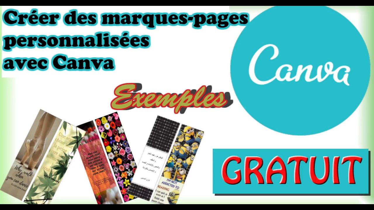 Creer Une Marque Page Facilement Et Gratuitement Avec Canva How To Create A Bookmark With