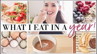 What I eat in a YEAR!   Cooking Video MARATHON   Favorite, Easy Meals and Coffee Recipes