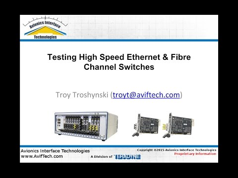 Testing Avionics Ethernet Networks & Switches