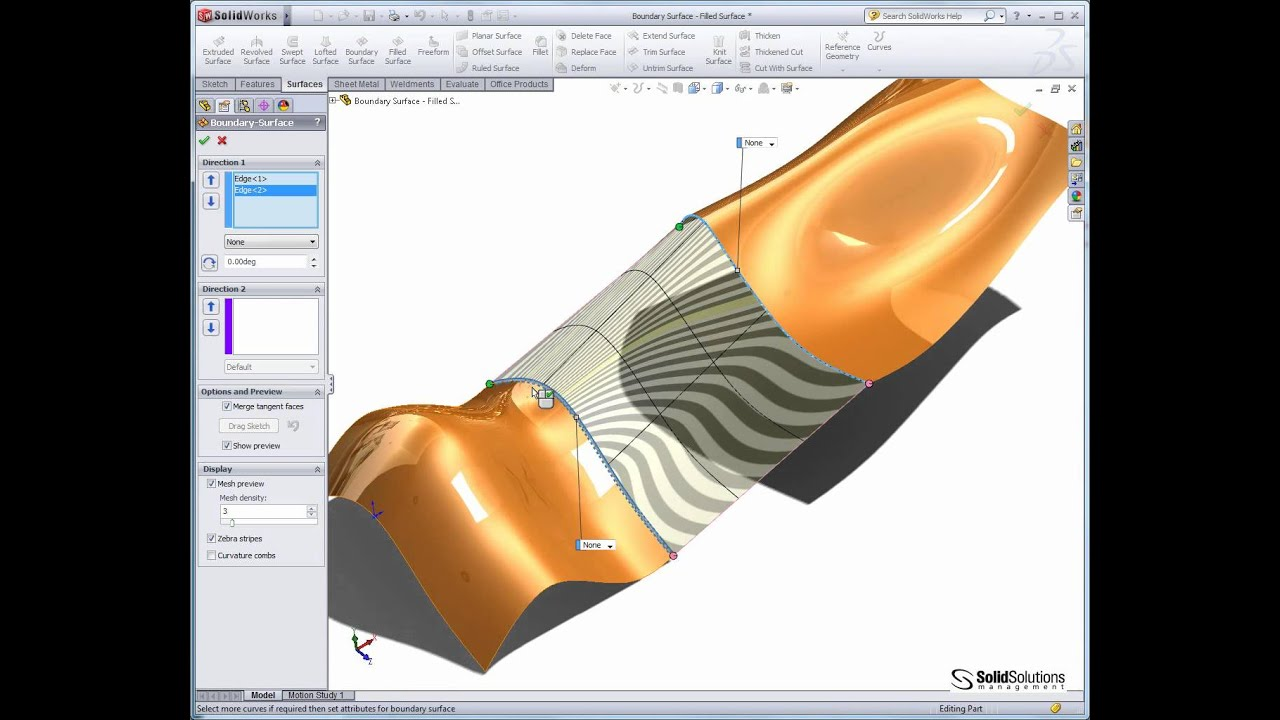 Complex Shapes In Solidworks Using Solids And Surfaces