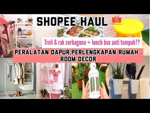 shopee-haul-peralatan-dapur,-perlengkapan-rumah-&-room-decor-|-rak-serbaguna---the-irvandis-home