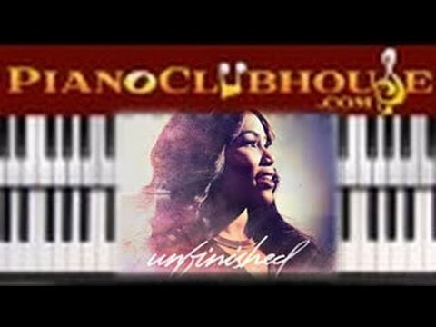 🎹 How to play UNFINISHED  Mandisa easy Christian piano tutorial less
