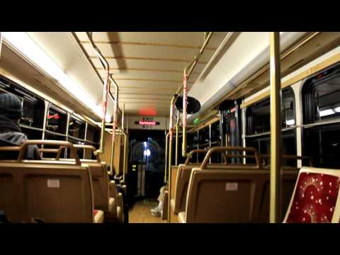 RIPTA of Providence, RI - Route 92 Green Line Trolley via Tunnel.