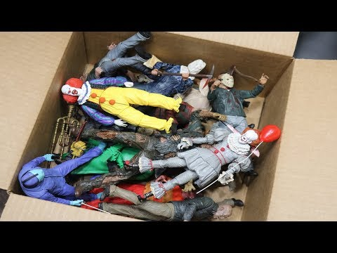 MASSIVE BOX FULL OF HORROR ACTION FIGURES!
