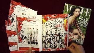 'Lancôme Show' pop-up magazine ad