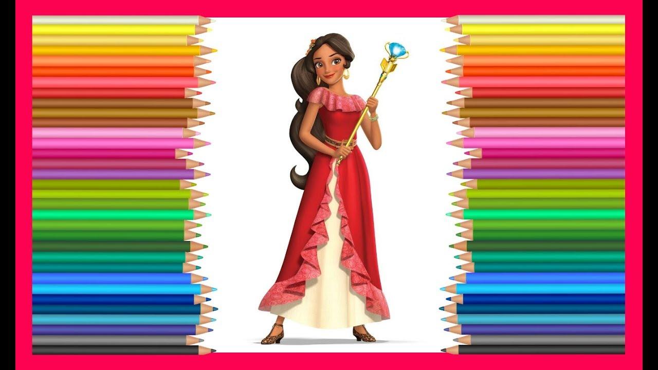 Елена из Авалора раскраска принцесса Диснея Elena from ...