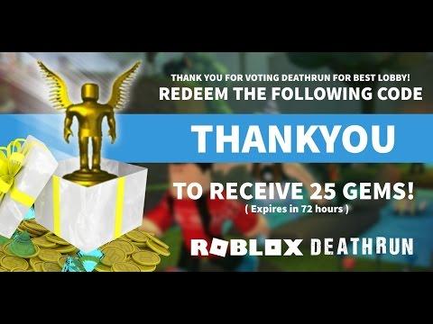 roblox codes for deathrun