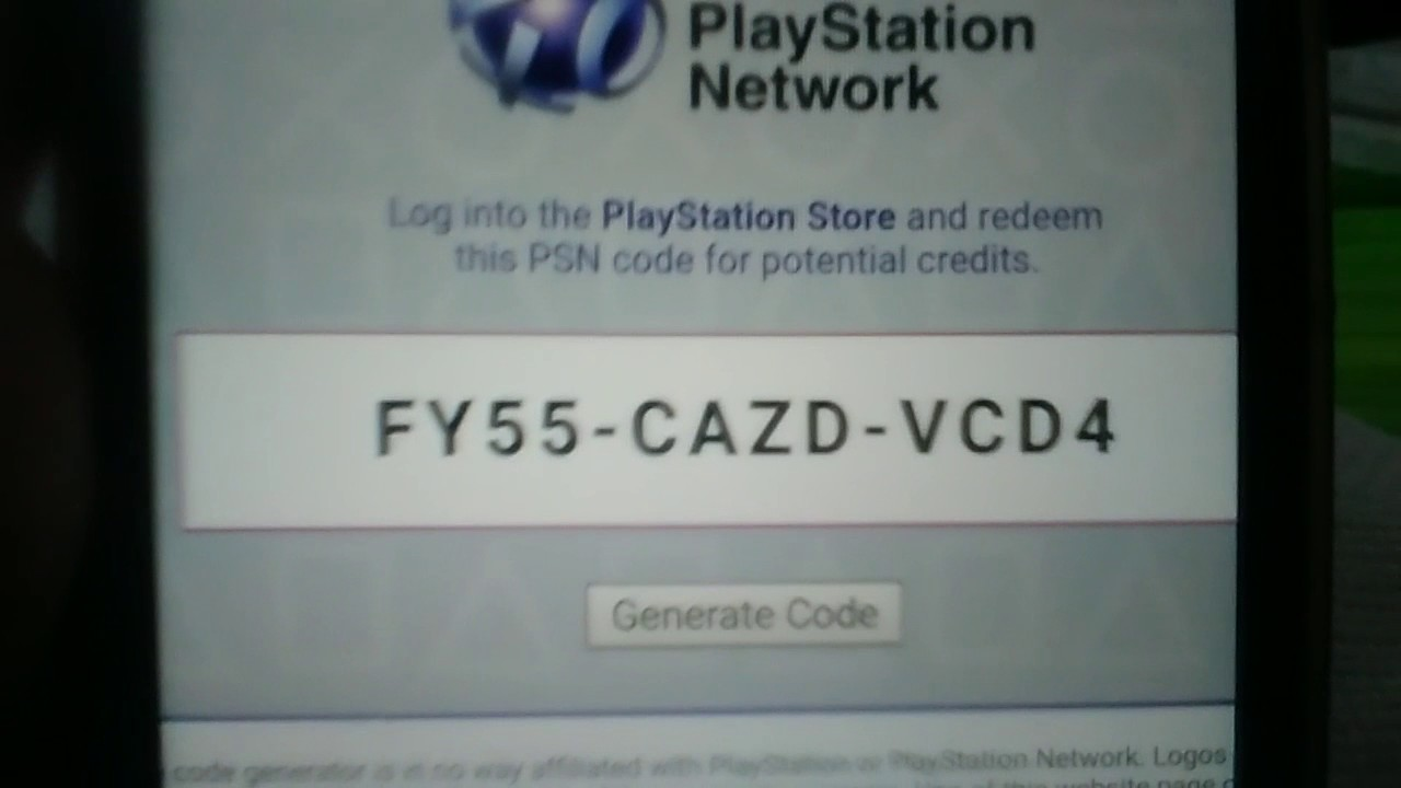 PSN CODE FREE !!! FOR PS4