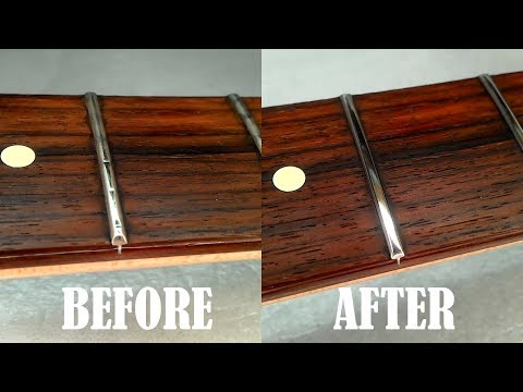 how-to-level-crown-&-polish-guitar-frets