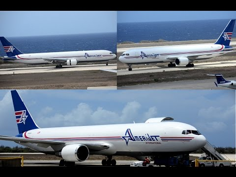 Amerijet International Boeing 767-300F Landing @ curacao