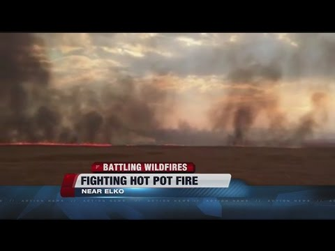 No active flame seen in big northern Nevada wildfire zone