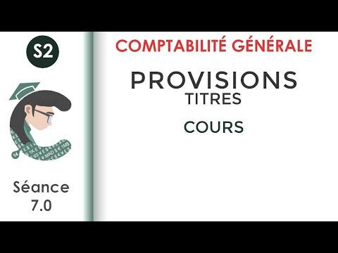 CG2; séance 7: les provisions sur les titres