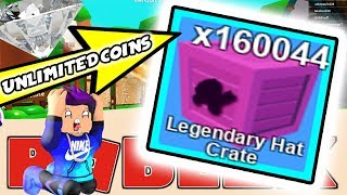 *NEW* UNLIMITED LEGENDARY HAT CRATE GLITCH! (Roblox Mining Simulator Glitch)